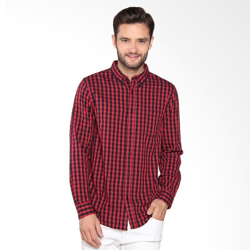 Greenlight Shirt Kemeja Pria - Red 205061711