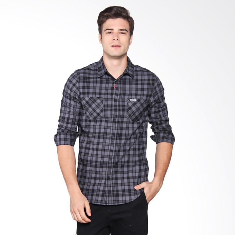 Moutley Shirt Pria - Black 303061711