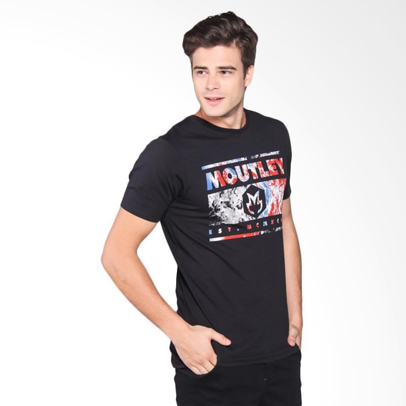 Moutley Tshirt Pria - Black 375061712