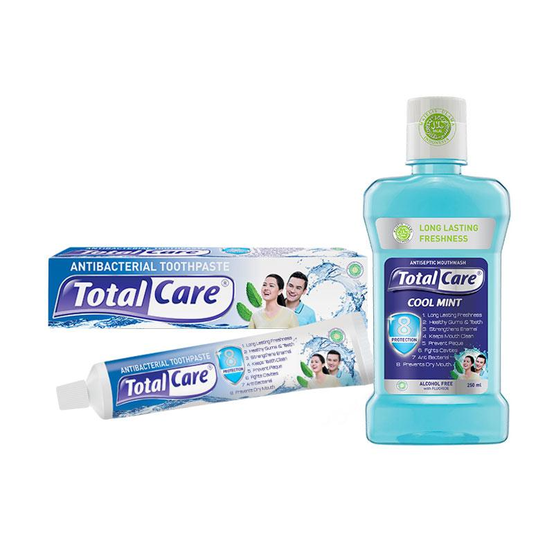 Total Care Paket Tooth Paste and Mouthwash Cool Mint