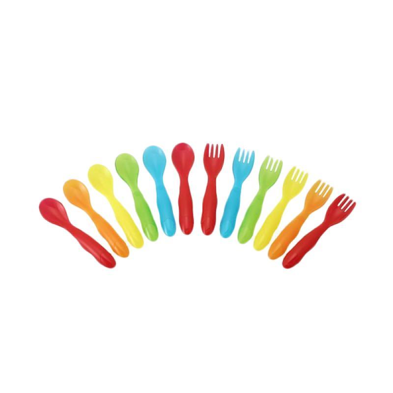 The First Years Take & Toss Toddler Flatware Set Peralatan Makan [12 pcs]