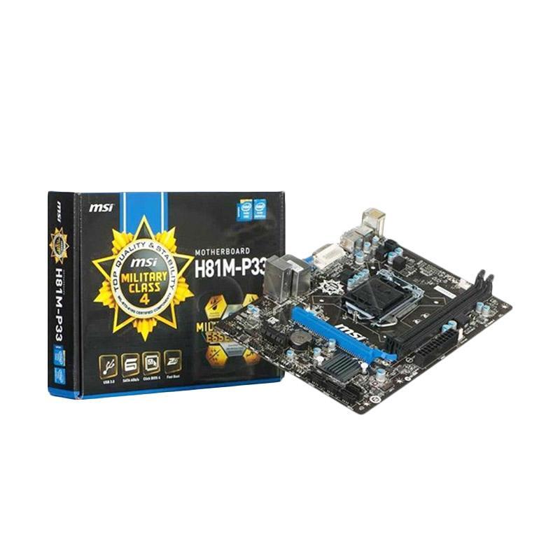 MSI H81M-P33 LGA 1150 Motherboard