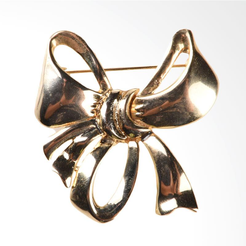 1901 Jewelry Amy Ribbon Brooch BR.1229.HR37 - Gold