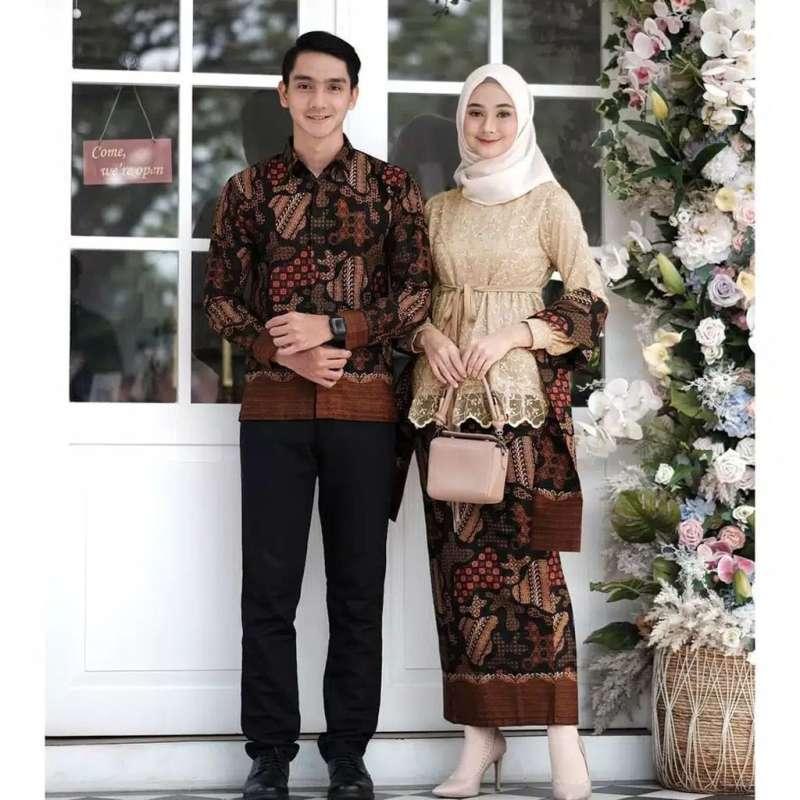Jual Aisya Baju Batik Couple Modern Untuk Keluarga Kondangan Lamaran Pernikahan Terbaru Juli 2021 Blibli