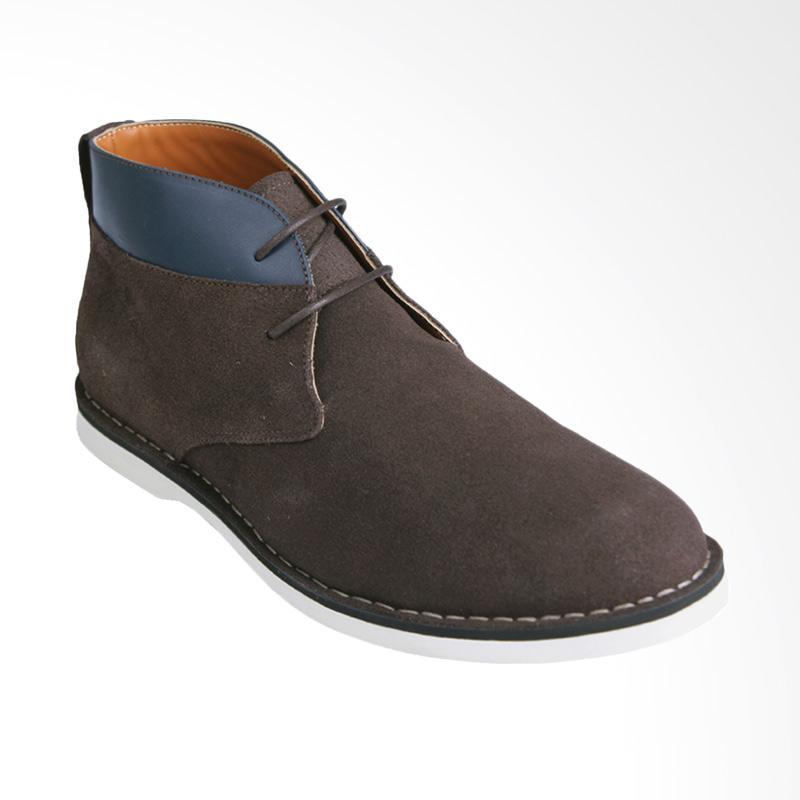 Ftale Footwear Branson Mens Shoes - Suede Brown