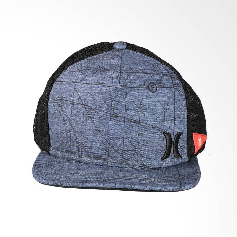 Hurley JJF Maps Hat Topi - Black MHA0008480_00A
