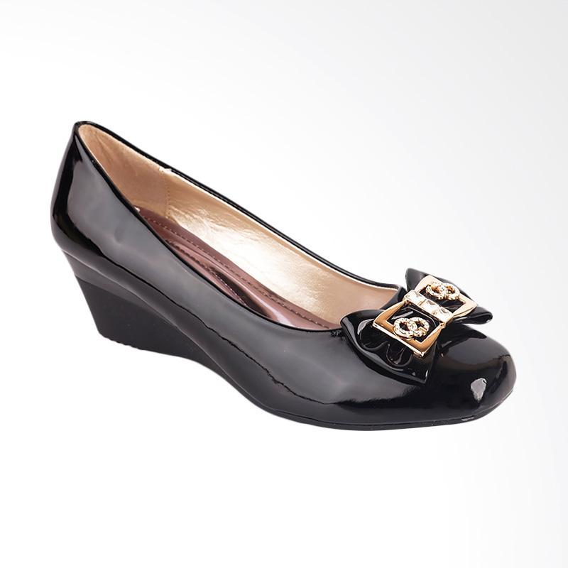 harga Inside Salena Sepatu Wedges Wanita - Hitam Blibli.com