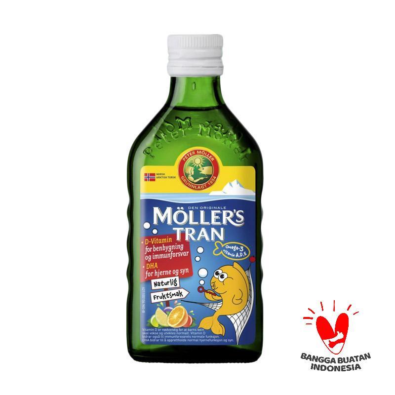 Moller s Tran Cod Liver Oil Multivitamin Anak Tutti Frutti 250 mL