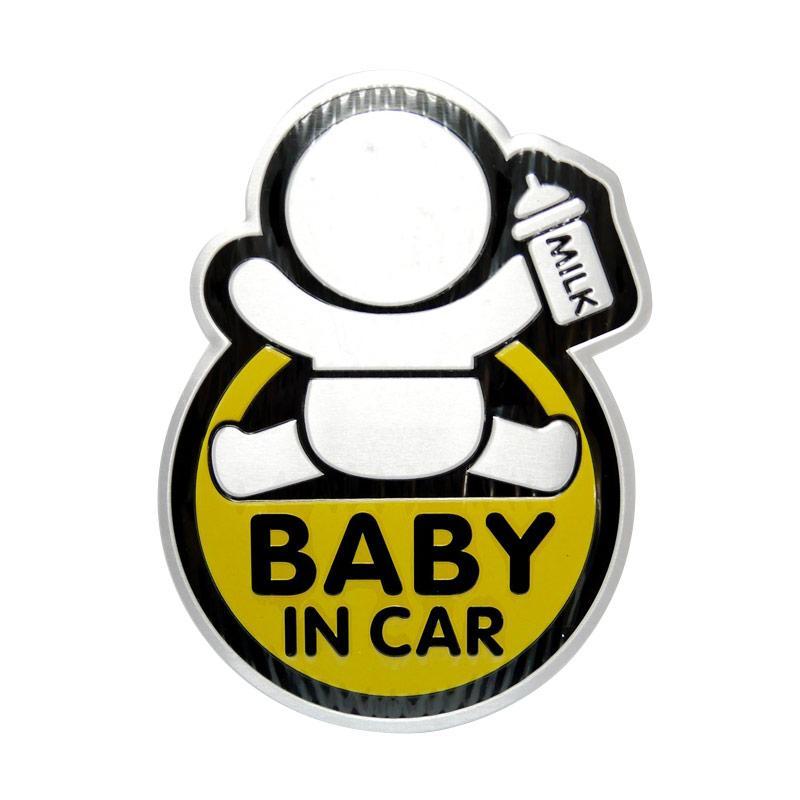 SIV EMB-P19 Baby In Car Emblem Mobil - Kuning