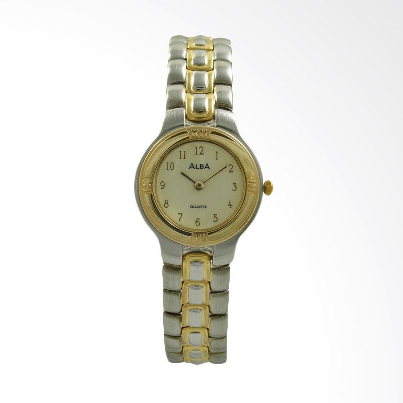 ALBA Jam Tangan Wanita - Silver Gold - Stainless Steel - ATAK36