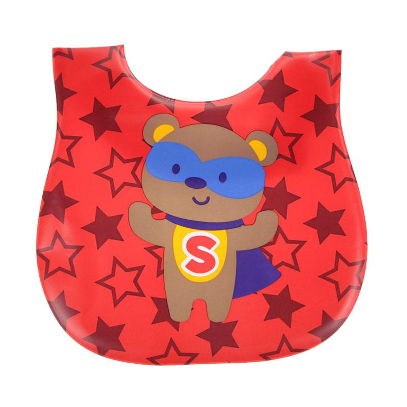 Chloebaby Shop Bib Plastik Star Red Baby Grow S273 Sleber Baby - Red