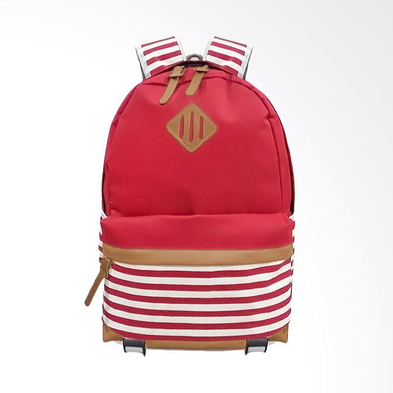 Bag & Stuff Annelo Korea Backpack Tas Wanita - Merah