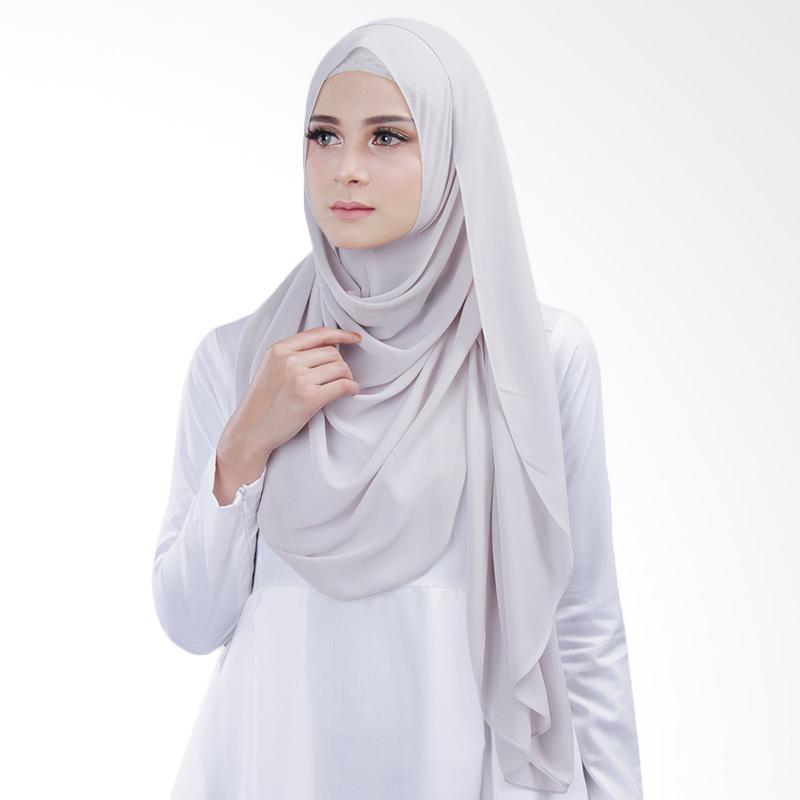 Cantik kerudung Bella Instant Shawl - Light Grey No.2