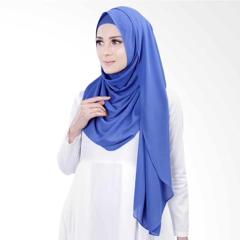 Cantik Kerudung Bella Instant Shawl Hijab ��� Royal Blue No.18