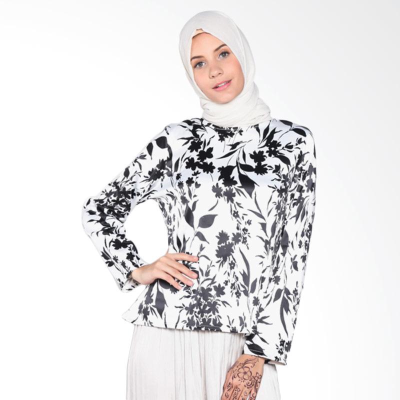 Rauza Rauza Safiya Top Atasan Muslim - White Black