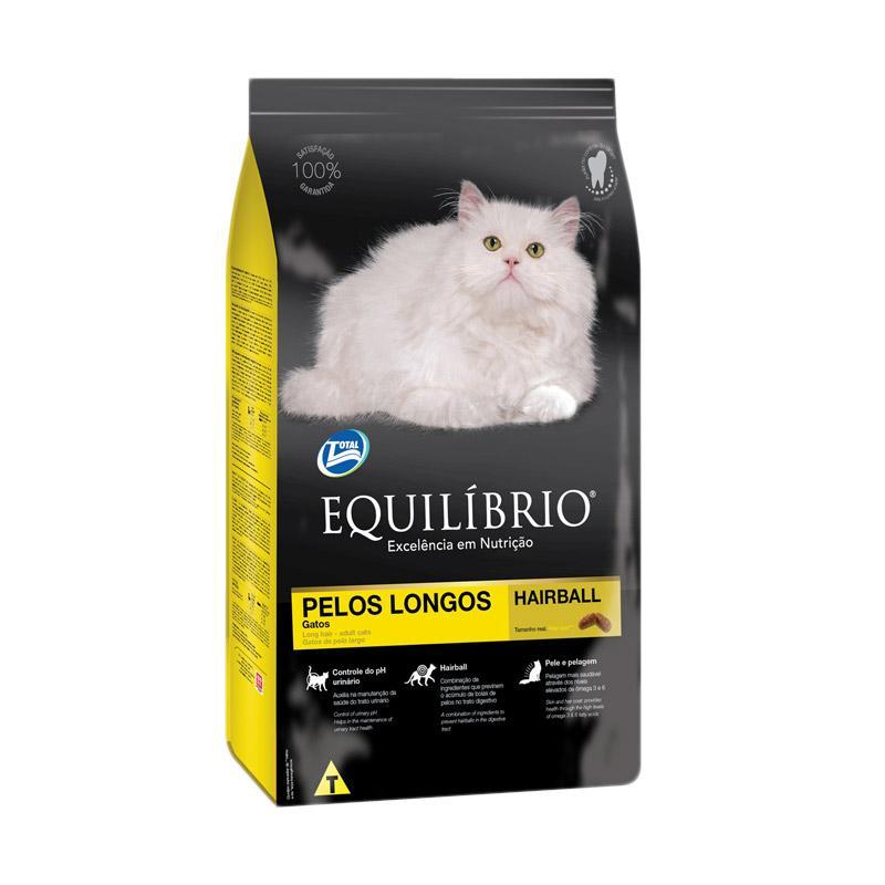 Equilibrio Cat Long Hair Hairball Makanan Kucing 1 5 Kg