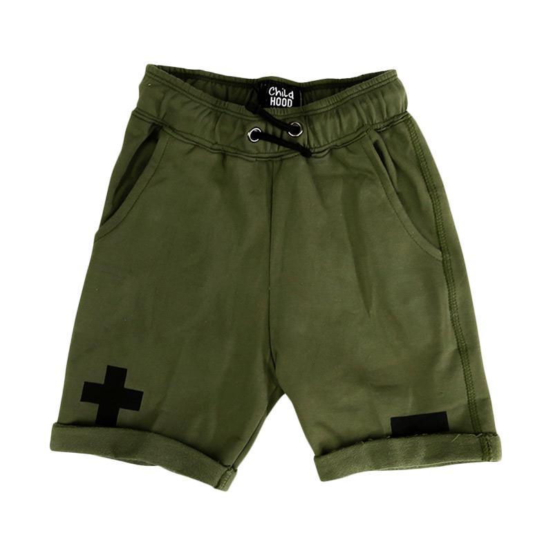 Childhood Apparel Math Shorts Celana Anak - Green