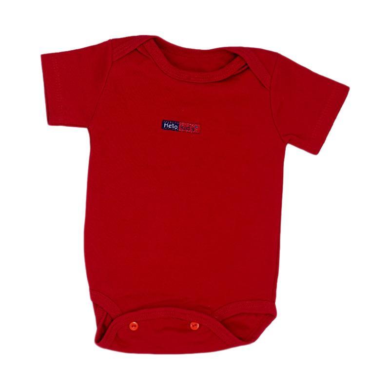 Hello Baby Jumper Pendek Polos - Merah