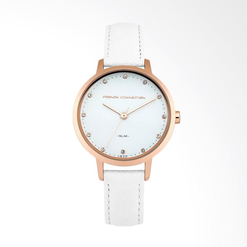 FCUK FC1254WRG Leather Watches - White
