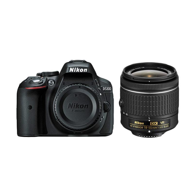 NIKON D5300 KIT AF-P 18-55MM VR RESMI + Free  Sandisk ULTRA 16 GB + Filter UV + Screen Guard