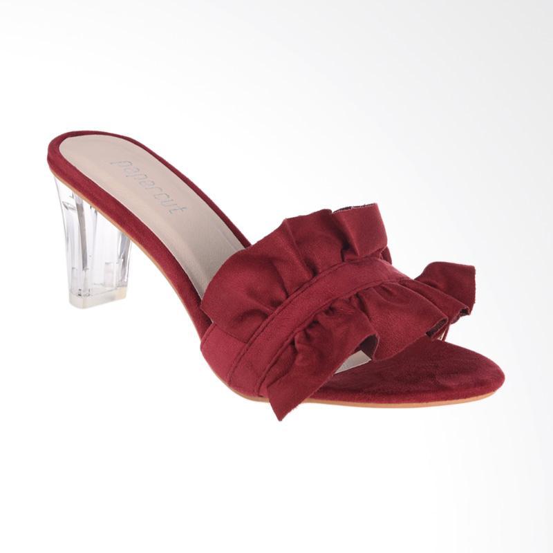 Papercut Shoes Xianggelula Frill Suede Mules Heels