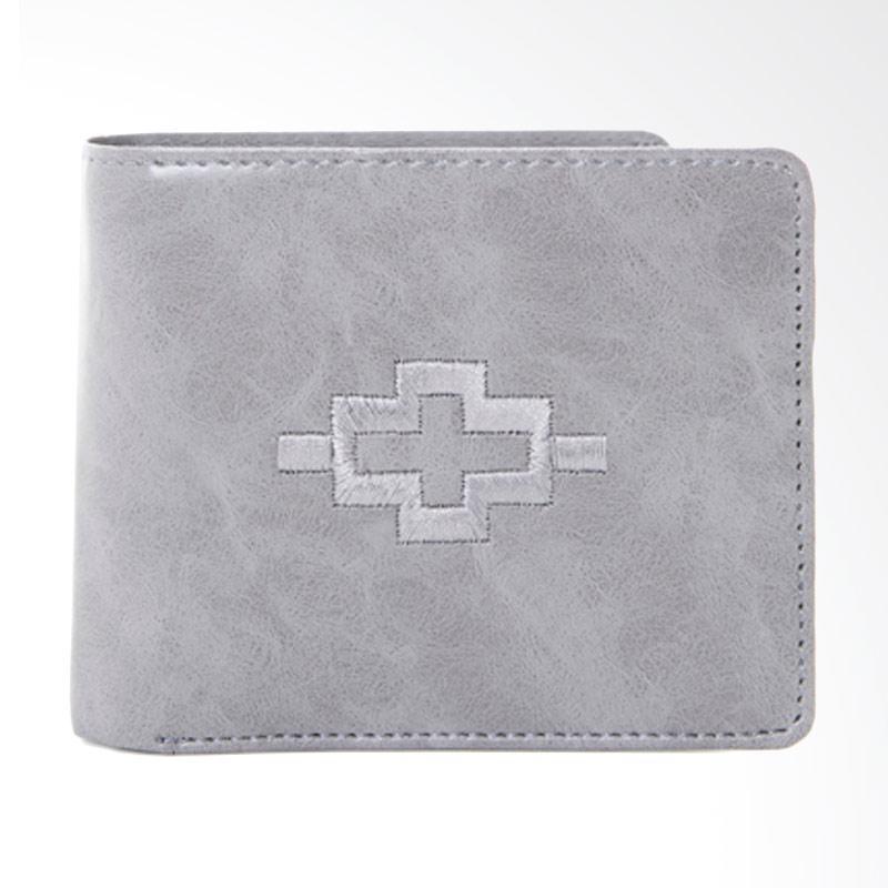 Tendencies Ethnic Icon Grey Wallet Dompet Pria - Abu-abu