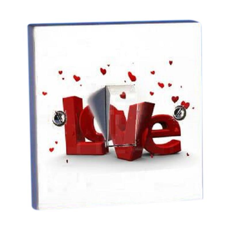 OEM Motif Valentine Love Saklar Lampu Stiker