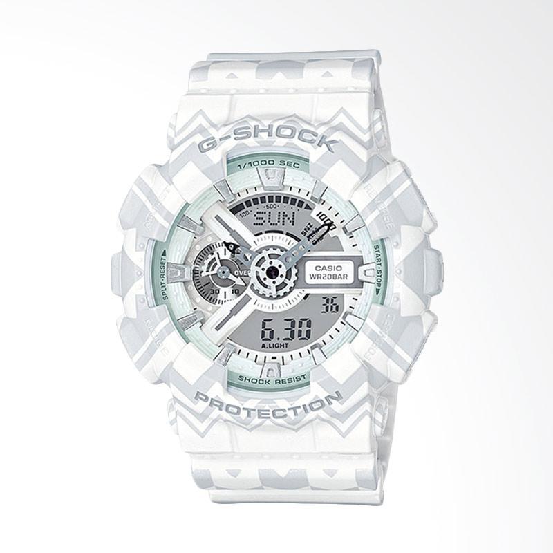 CASIO G-Shock Jam Tangan Pria - White Grey GA-110TP-7ADR