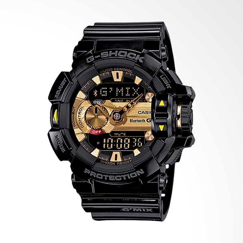 CASIO G-Shock GMIX Bluetooth Smart Jam Tangan Pria - Black Gold GBA-400-1A9DR