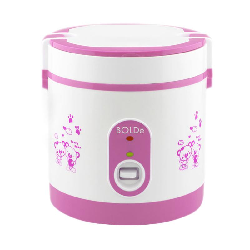 BOLDe Rice Cooker Mini 0.6 Liter SUPER COOK Titanium - Pink - Utama Electronic