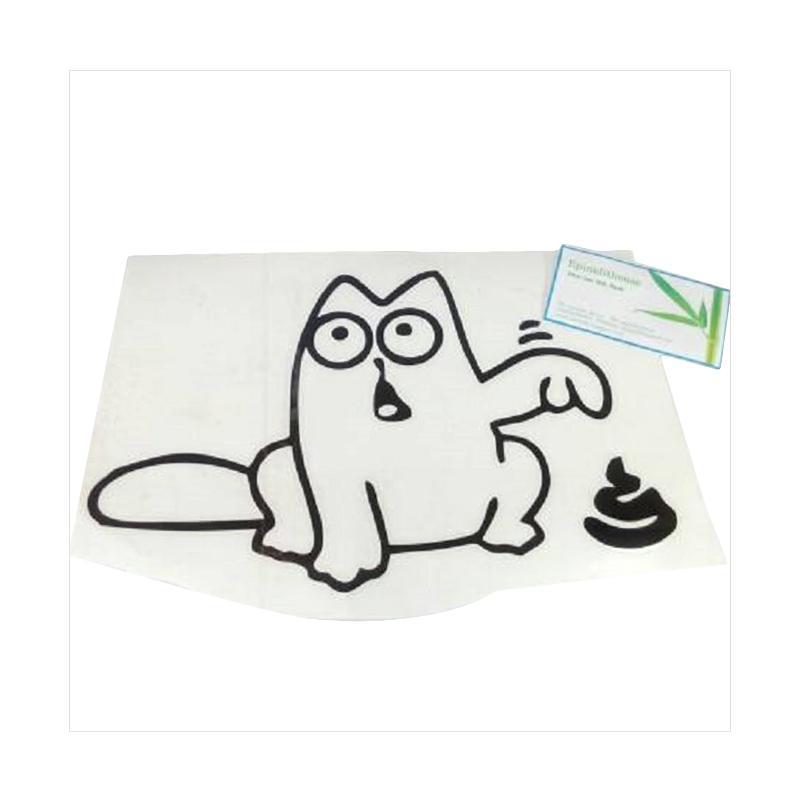OEM Sticker Toilet Anak Anjing Tunjuk Decal Dekorasi Dinding