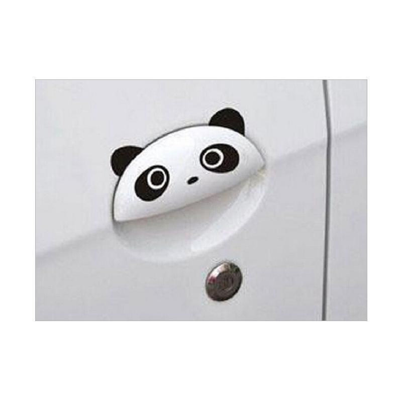 OEM Panda Eyes Car Handle Door Sticker