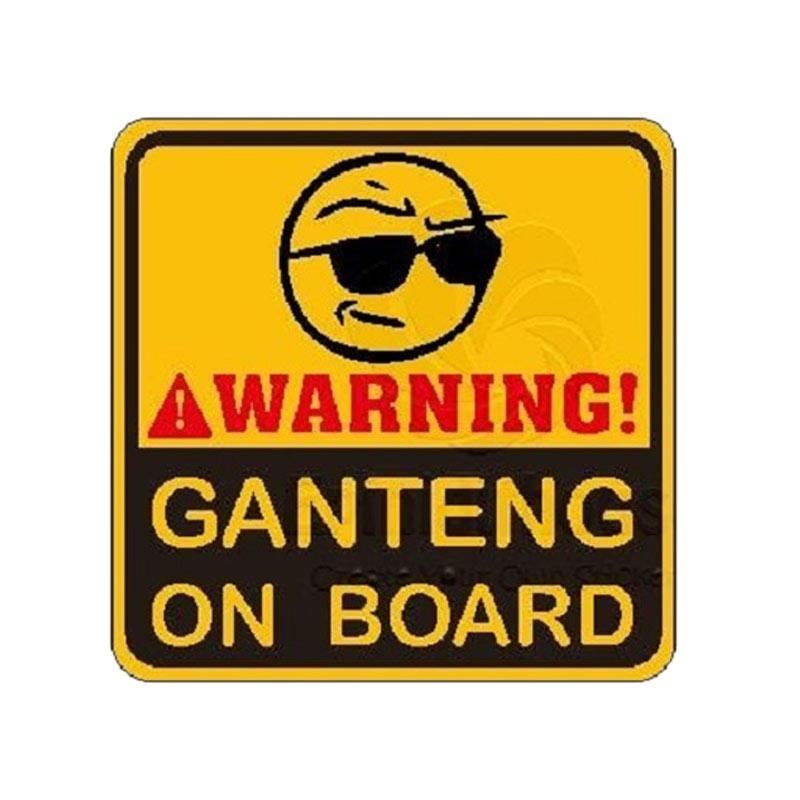 OEM Kata Lucu Ganteng On Board Spakbor Stiker Mobil dan Motor