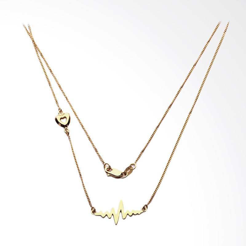 Amael Kalung Emas Kadar 75 -  Gold Necklace-WHIZLIZ