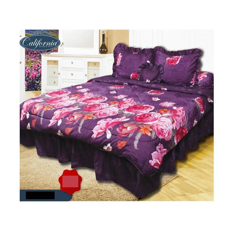 California Motif Peony Set Sprei dan Bed Cover [180 x 200 cm]