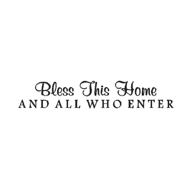 OEM Quotes Bless This Home Dekorasi Dinding
