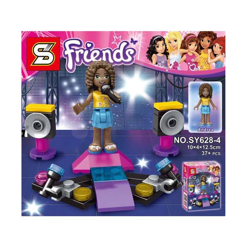 Sy 628 4 Gilr Andrea Mini Figure Mainan Blok & Puzzle