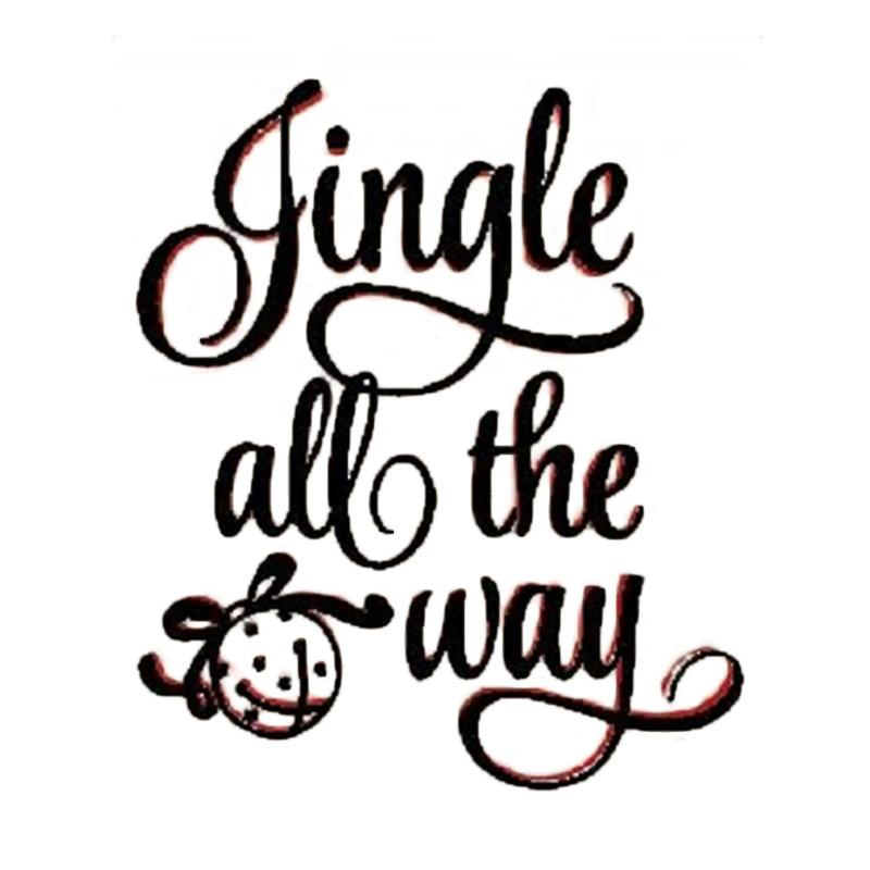 OEM Jingle All Way Wall Sticker Dekorasi Dinding