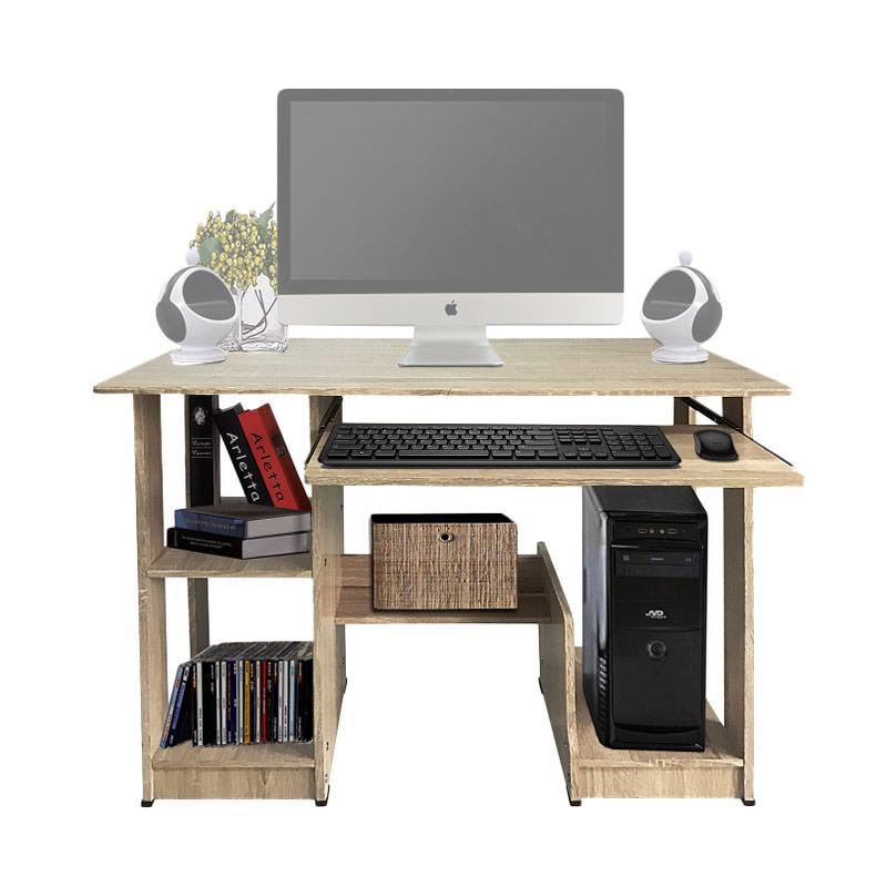 Best Furniture KayuOak Cooldesk Meja Komputer - [uk 90 x 43 cm] Taupe Cream