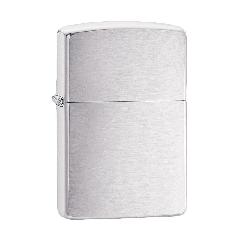 Zippo Brushed Pocket Lighter - Chrome