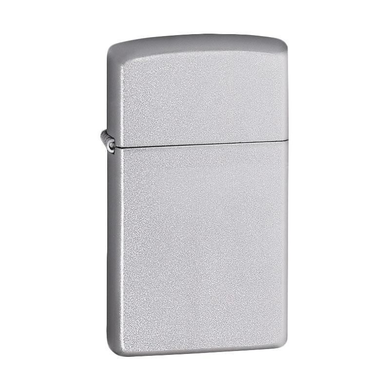 Zippo Slim Brushed Chrome Windproof Lighter - Silver 1605