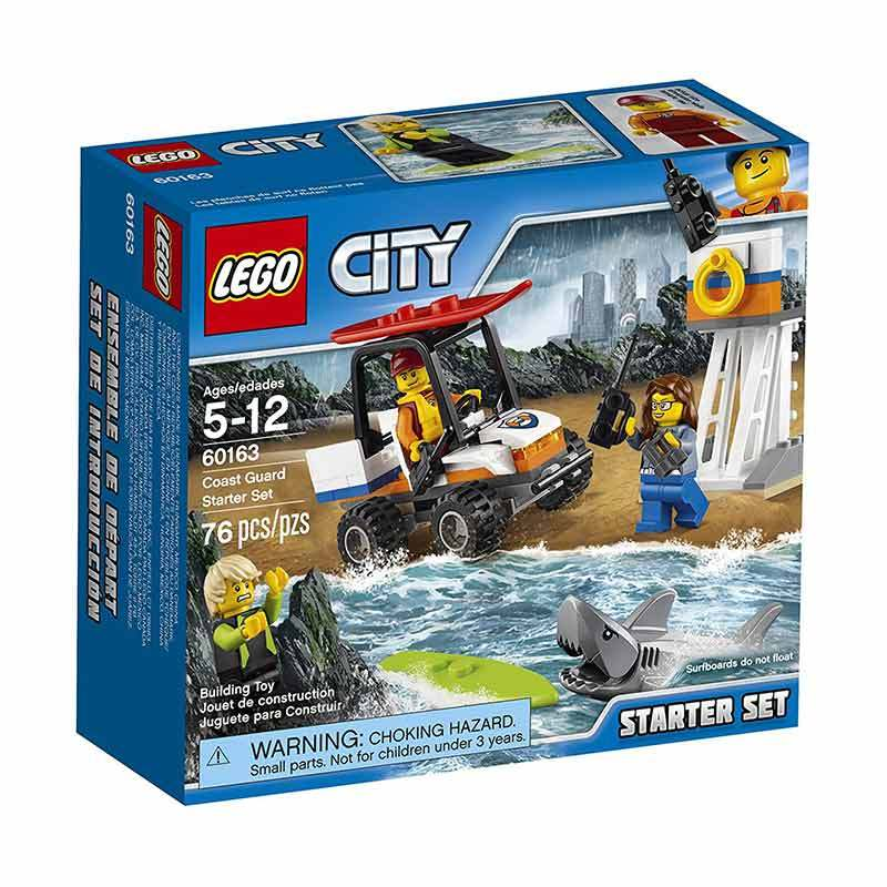 LEGO 60163 City Coast Guard Starter Set Mainan Blok dan Puzzle