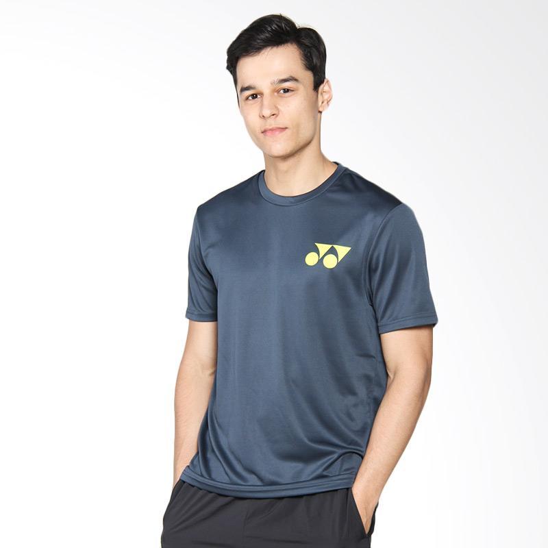 harga YONEX Navy Round Neck Men T-Shirt Kaos Badminton - Midnight RM-S092-41001-178B-17-SR Blibli.com