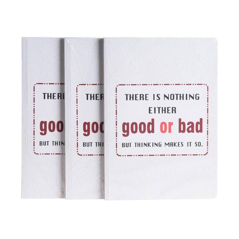 Karisma Exclusive Set Buku Tulis There is Nothing Iither Good or Bad [A5/80 g/3 pcs] - 748431