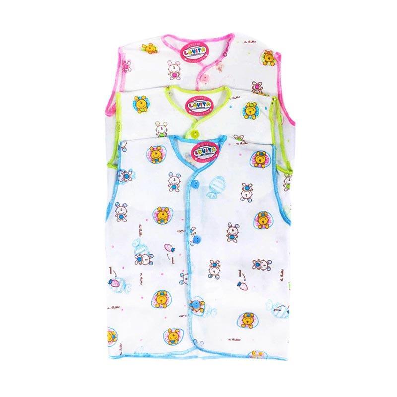 Dapatkan Luvita Baju Bayi Lengan Pendek Motif Newborn 3 Pcs Olshop Source · Luvita Baju Bayi