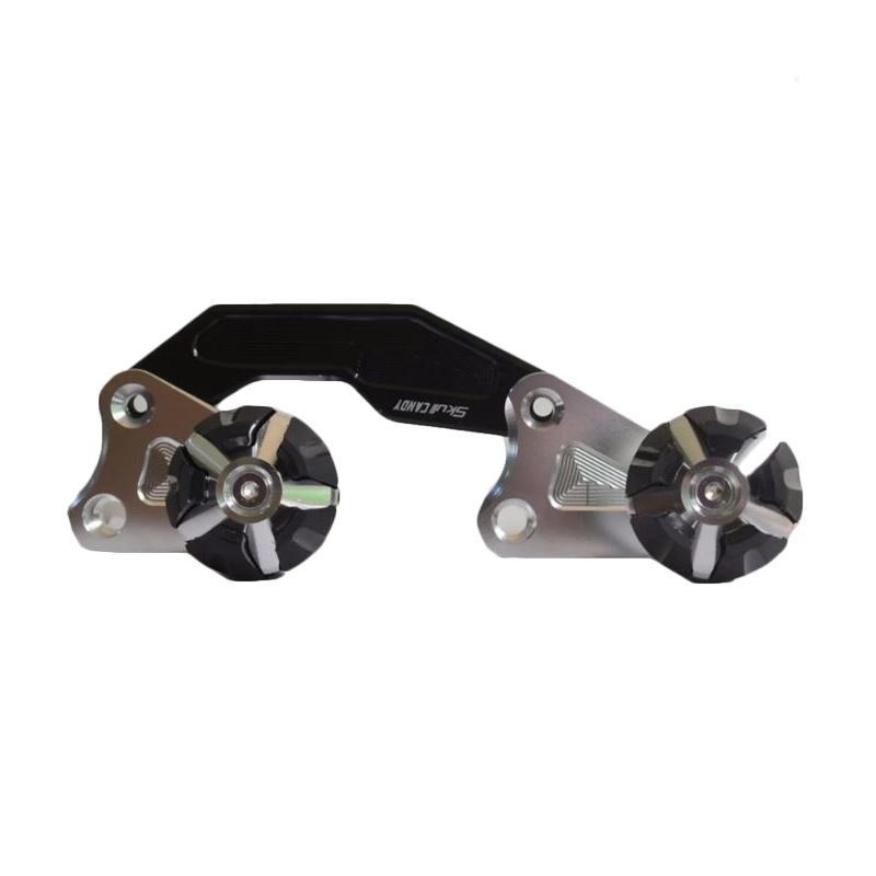 Raja Motor Pelindung Knalpot Motor for Yamaha NMax - Silver Hitam [DKR3053]