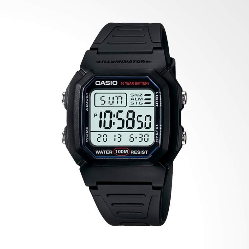 CASIO Standard Jam Tangan Pria - Black W-800H-1AVDF