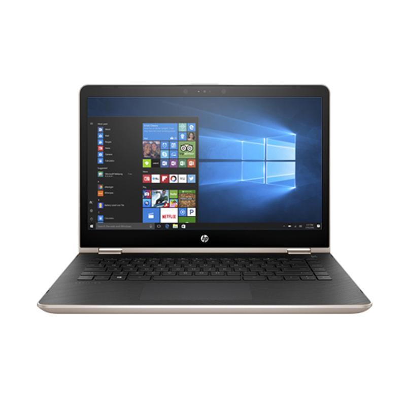 HP Pavilion X360 Convert 14-BA004TX Notebook - Gold [Intel Core i5-7200U/8GB/1TB/VGA/No DVD/14