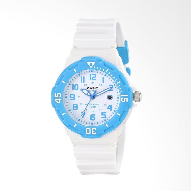 Casio LRW-200H-2BVCF Women's Dive Style Analog Display Quartz Watch - White