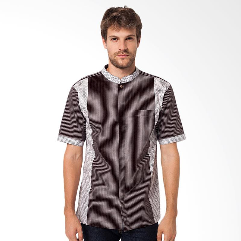 A&D Mens Short Sleeve Koko Casual - Brown MS 716B